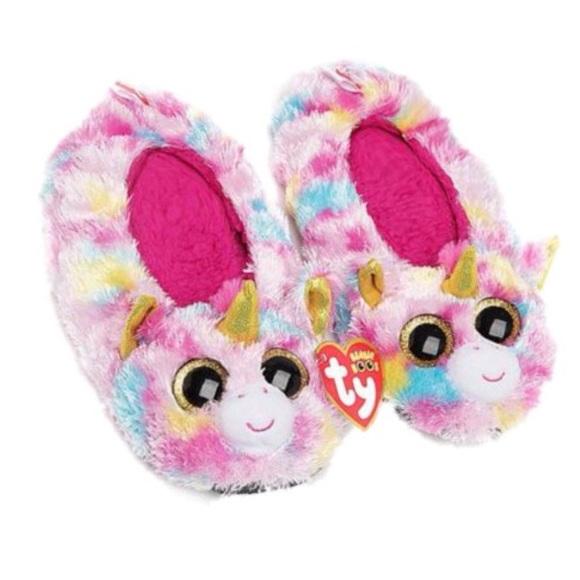 Ty Beanie Boos Fantasia Unicorn Slipper Socks